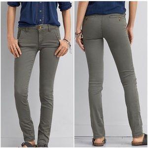 American Eagle // Olive Green Skinny Twill Pants
